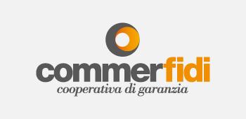 logo Commerfidi in collaborazione con costruire
